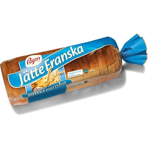 22g kolhydrat per skiva bröd.