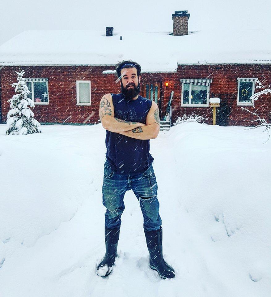 Det är snöigt i Dalarna