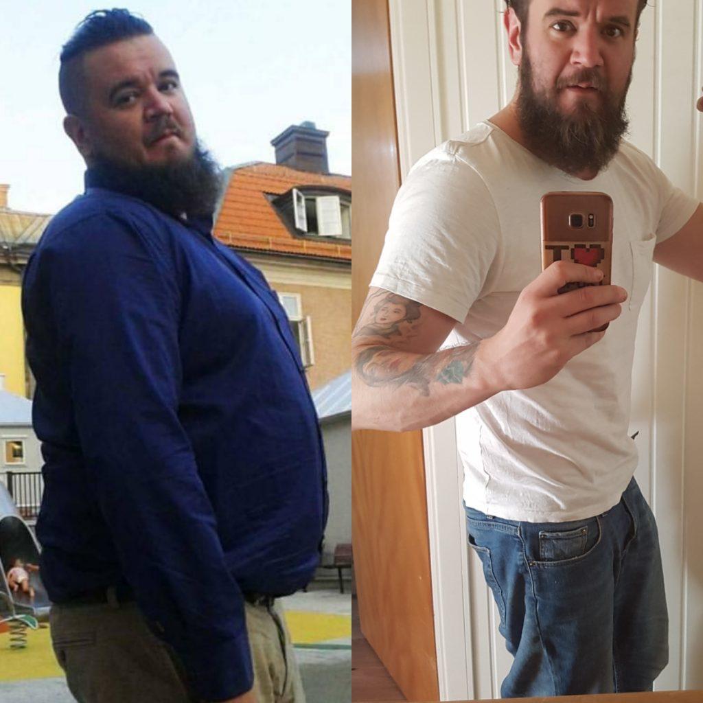 Mina resultat talar för sig själv, 40kg minskning i kroppsvikt. Men jag har under samma period lagt på mig muskelmassa också. Suveränt!